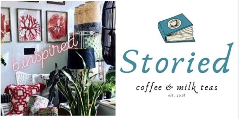 b.inspired and storied coffee logos